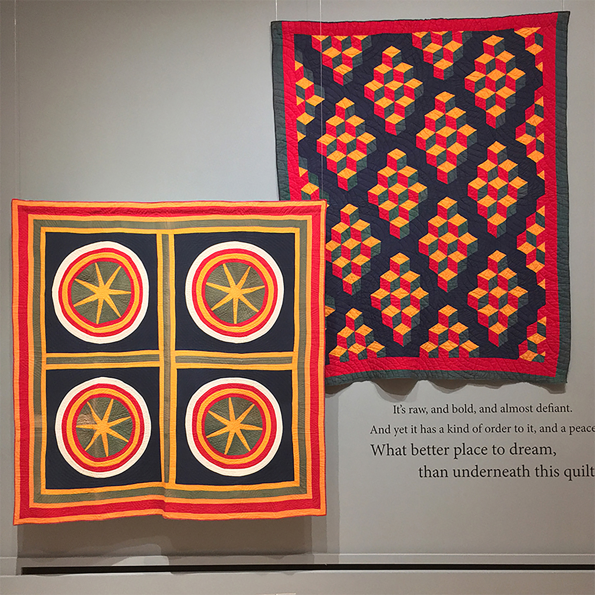 Two Ken Burns Quilts Displayed