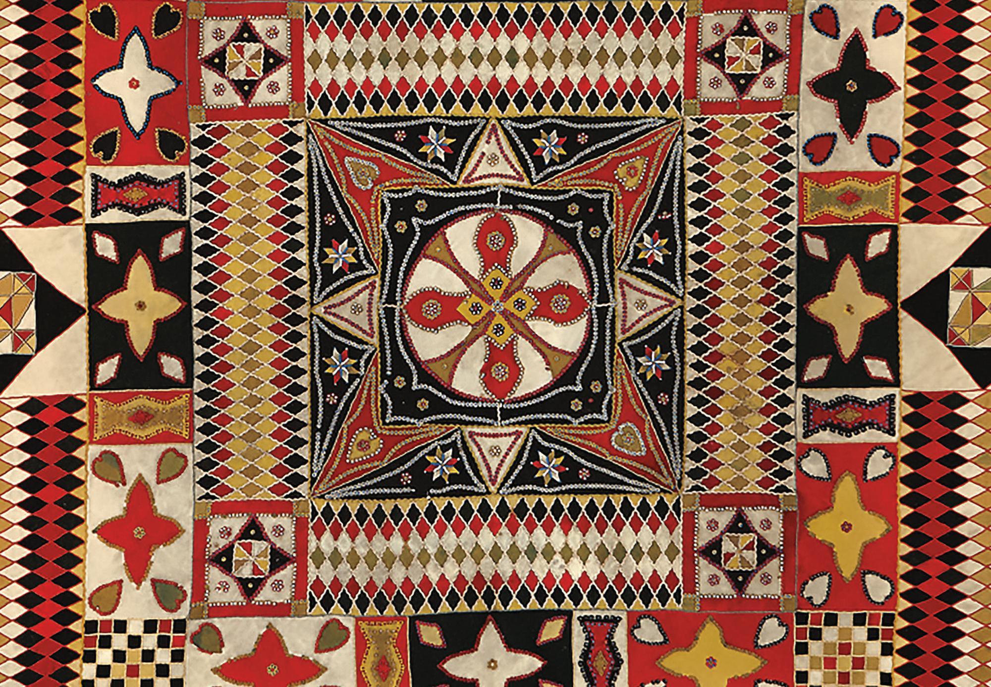 War and Pieced quilt detail