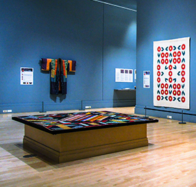 Interior photo of quilt display
