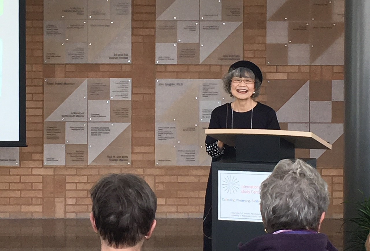 Eiko Okano gives a lecture at the International Quilt Museum