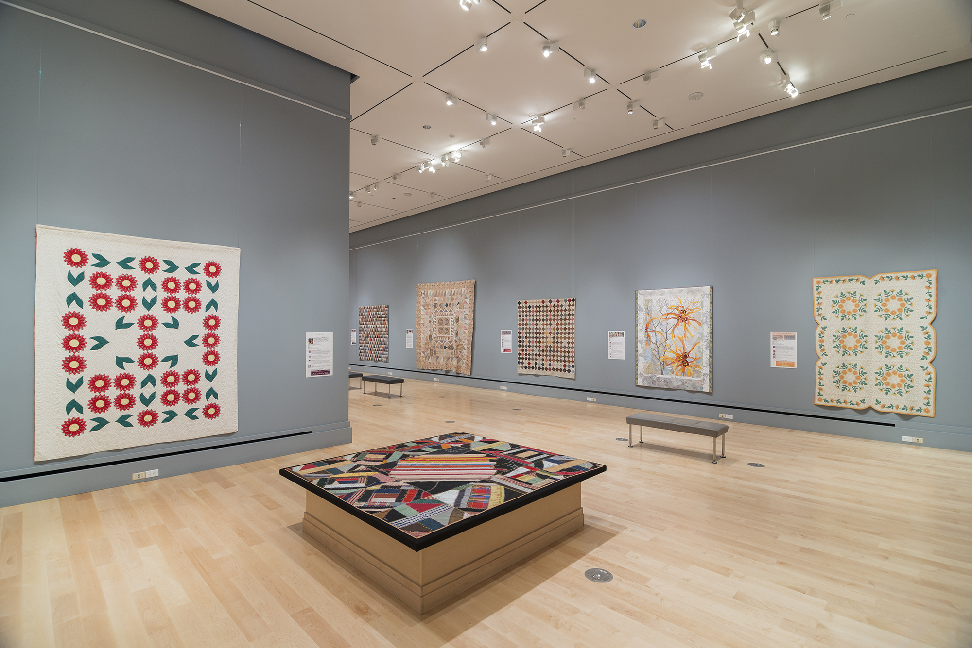 Interior Photo of Quilt Exhibitions