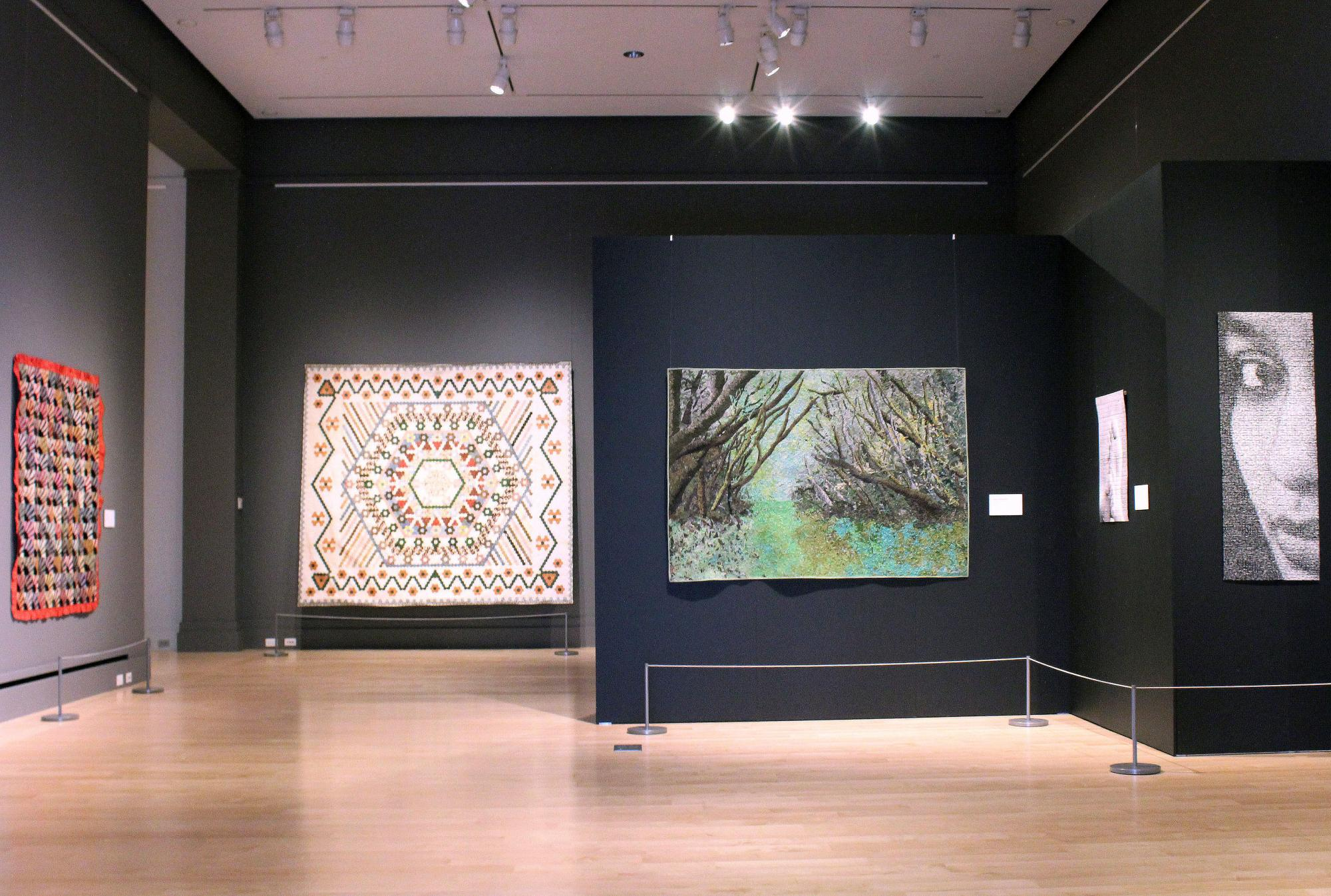Quilts on display in The Mark Dunn Collection