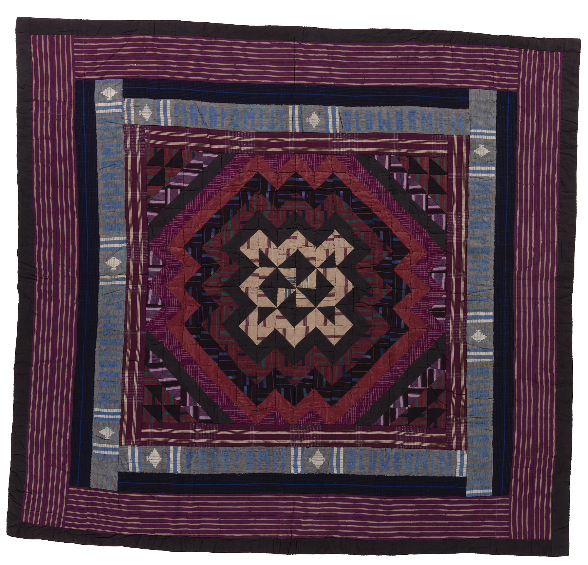 Ashoké fabric quilt made by the Yoruba people