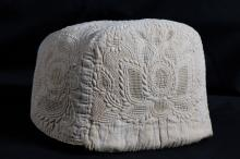 Cap, Woman's; corded quilting, drawn work
