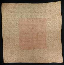 Bedcover, plain quilting